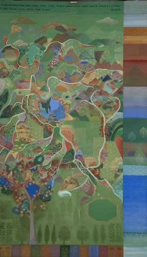 Each night put Kashmir in your dreams series, scroll painted on both sides (2003-2010)