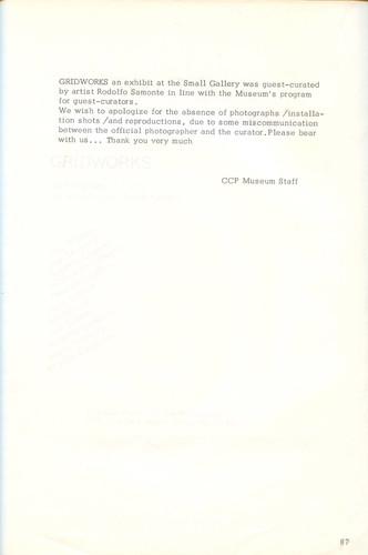 Gridworks — Exhibition Notes