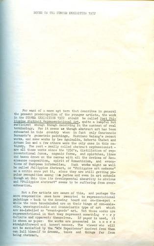 Summer Exhibition 1972 — Exhibition Notes