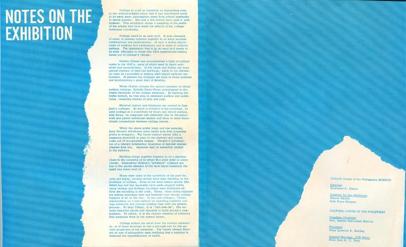 Collage — Exhibition Brochure