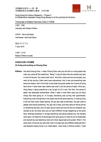 Interview: Robert O'Brien — Transcript (English)