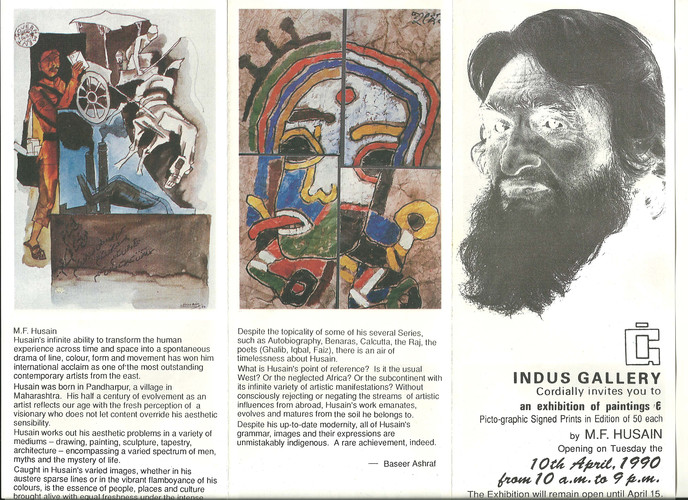 An Exhibition of Paintings and Picto-graphic Signed Prints in Edition of 50 Each by M.F. Husain