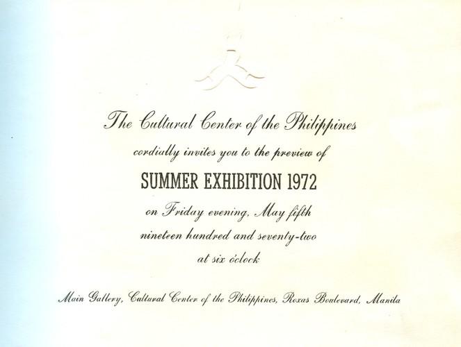 Summer Exhibition 1972 — Exhibition Invitation