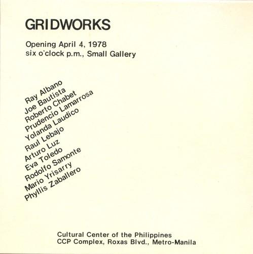 Gridworks — Exhibition Invitation