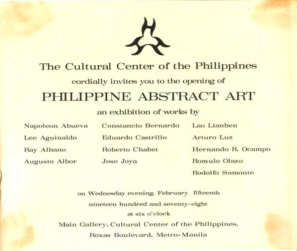 Philippine Abstract Art — Exhibition Invitation