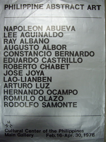 Philippine Abstract Art — Exhibition Poster