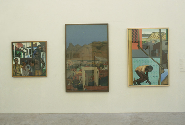 Paintings by Sudhir Patwardhan (Exhibition view)