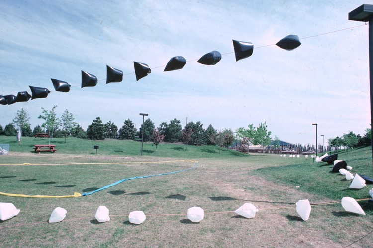 Partial of a Plastic Bag Installation