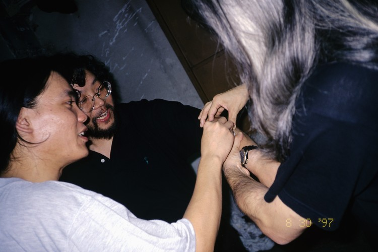 Louis To, Henry Ho, and Choi Kaiyan in the Improvised Performance at the Artist Commune
