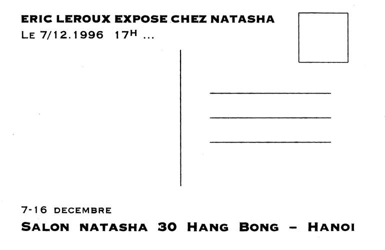 Solo Exhibition of Eric Leroux — Exhibition Invitation
