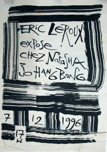 Solo Exhibition of Eric Leroux — Exhibition Poster