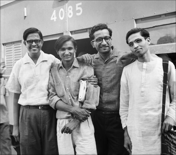 Group Photograph of Bhupen Khakhar, Raghav Kaneria, Pradyumn Tana, and Sunil Kothari