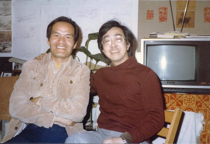 Zheng Shengtian and Chen Yifei, New York, 1982