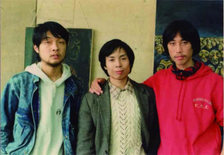 He Yang, Wang Xiaojun, and Xu Yong at 'Today Art Exhibition'