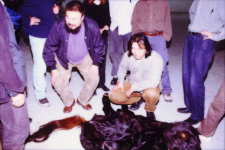Ai Weiwei and Yang Maoyuan in Preparation for 'Fuck Off'