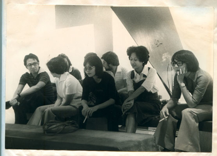 Roberto Chabet with Artist Friends at the Cultural Center of the Philippines