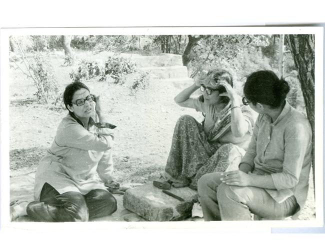 Geeta Kapur, Meera Mukherjee, and Gogi Saroj Pal at the Kasauli Art Centre Artist Workshop