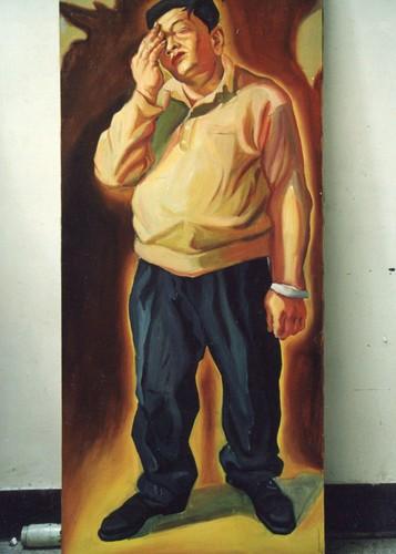 HVD 54668 右眼 (?) 布面油畫 1999 170x 75cm