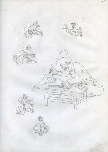 Tracings for Stencil- Rozgar series (Set of 37)