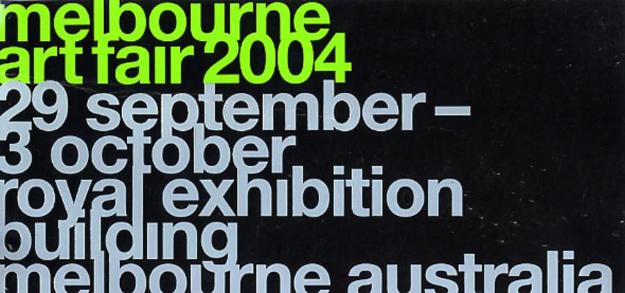 Melbourne Art Fair 2004