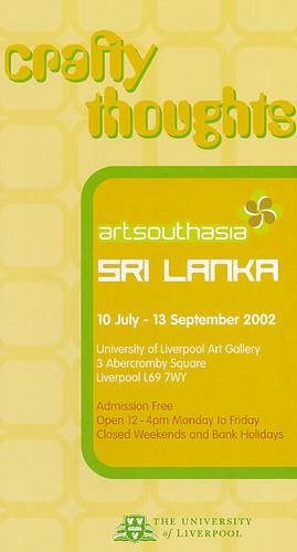 Crafty Thoughts: Art Southasia - Sri Lanka